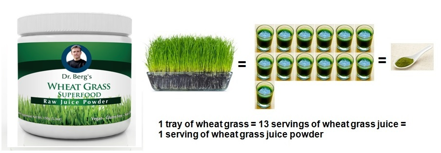 1tsp of Wheat Grass Juice Powder